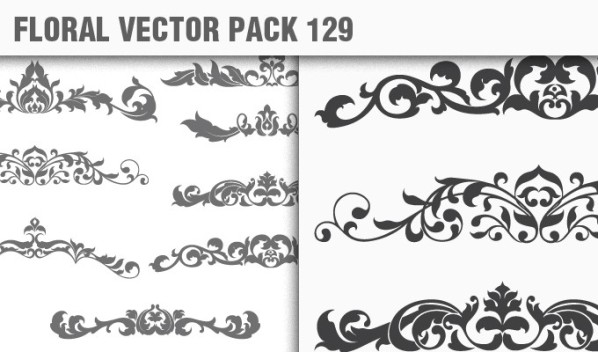designious vector floral 129 small New Products from Designious.com: 20 Awesome Vector Packs, 10 Urban T shirt Designs & 2 New Freebies