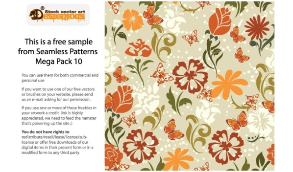designious vector seamless patterns bundle 10 sample New Products from Designious.com: 20 Awesome Vector Packs, 10 Urban T shirt Designs & 2 New Freebies