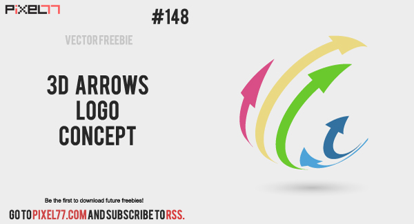 pixel77 free vector 3d arrows logo concept 600 Free Vector of the Day #148: 3D Arrows Logo Concept