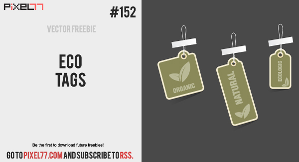 pixel77 free vector eco tags 600 Free Vector of the Day #152: Eco Tags