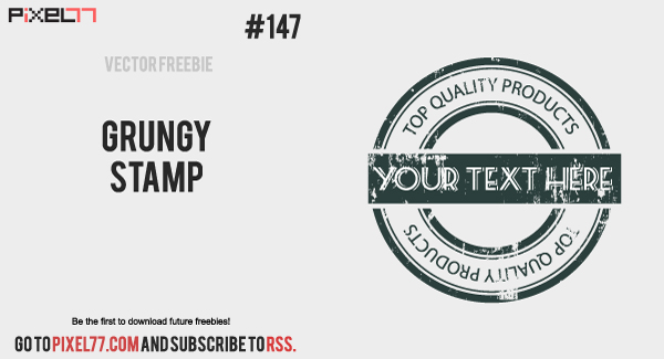pixel77 free vector grungy stamp 600 Free Vector of the Day #147: Grungy Stamp