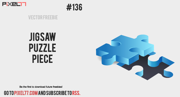 pixel77 free vector jigsaw puzzle pieces 600 Free Vector of the Day #136: Jigsaw Puzzle Pieces