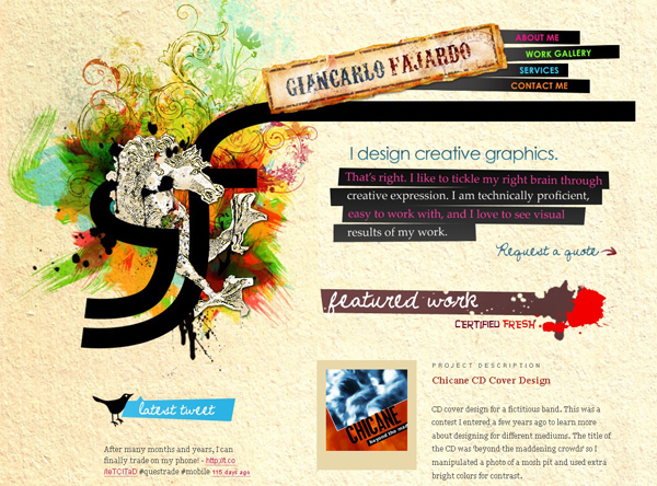 20 amazing Designer portfolio websites 2012 18 20 Amazing Designer Portfolio Websites from 2012