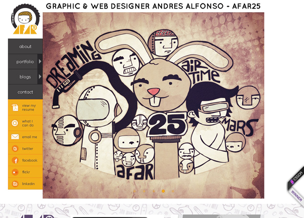 20 amazing Designer portfolio websites 2012 6 20 Amazing Designer Portfolio Websites from 2012