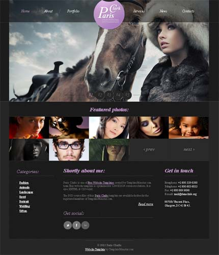 Showcase free innovative web templates 10 Showcase of 20 Free Innovative Web Templates from 2012