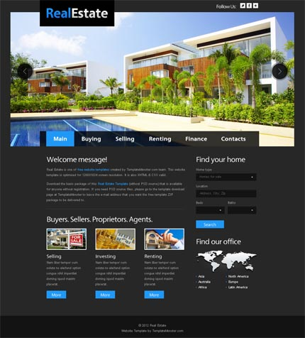 Showcase free innovative web templates 12 Showcase of 20 Free Innovative Web Templates from 2012