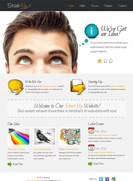 Showcase free innovative web templates 15 Showcase of 20 Free Innovative Web Templates from 2012