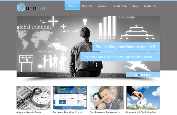 Showcase free innovative web templates 2 Showcase of 20 Free Innovative Web Templates from 2012