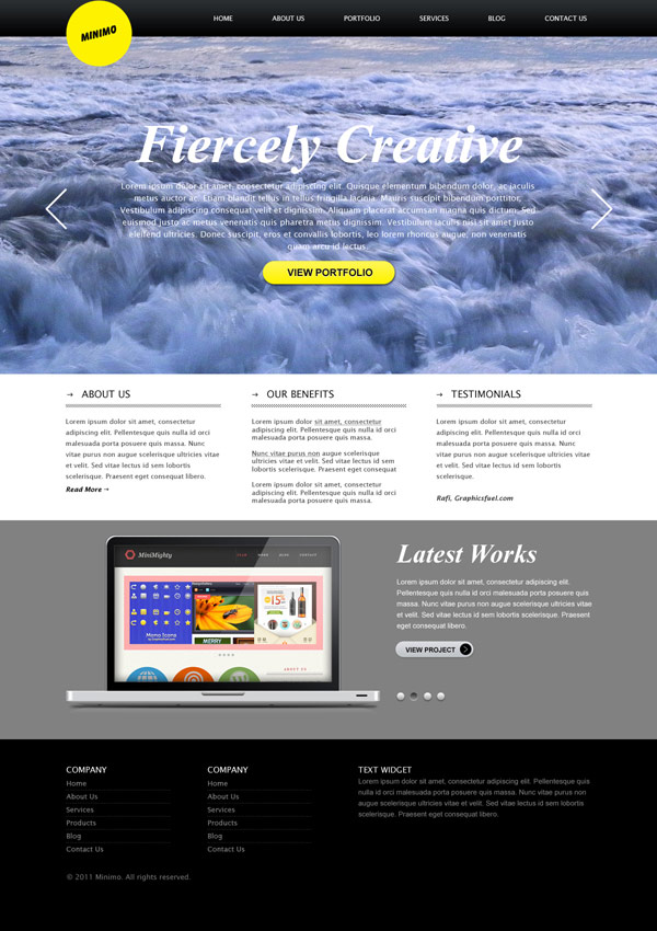Showcase free innovative web templates 5 Showcase of 20 Free Innovative Web Templates from 2012