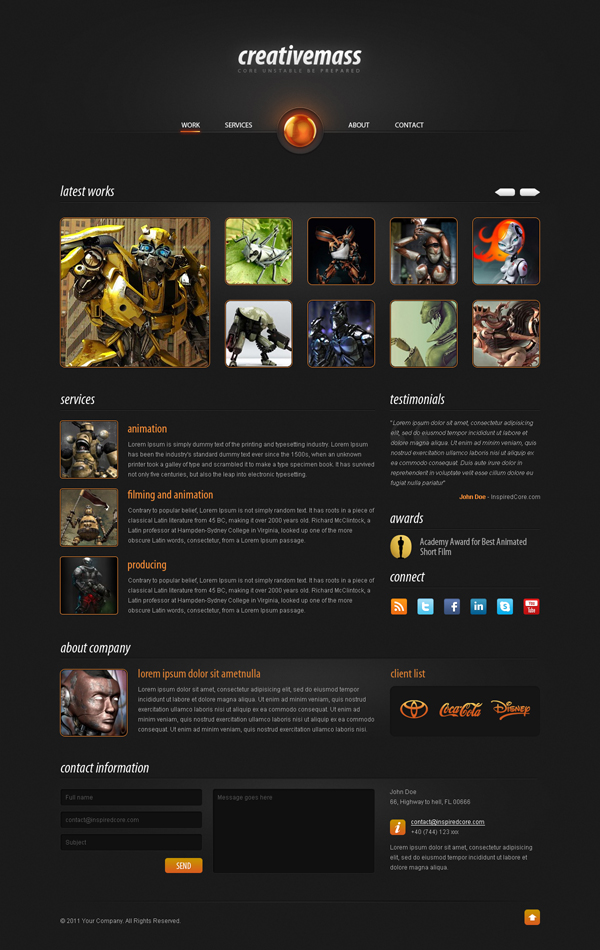Showcase free innovative web templates 7 Showcase of 20 Free Innovative Web Templates from 2012