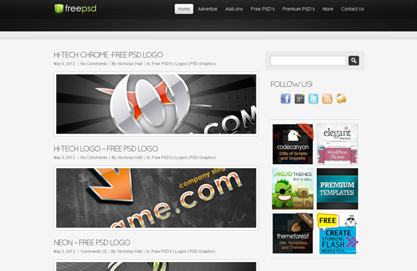 Websites free high quality PSD resources 1 25 Websites with Free High Quality PSD Resources