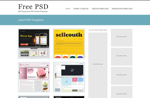 Websites free high quality PSD resources 10 25 Websites with Free High Quality PSD Resources