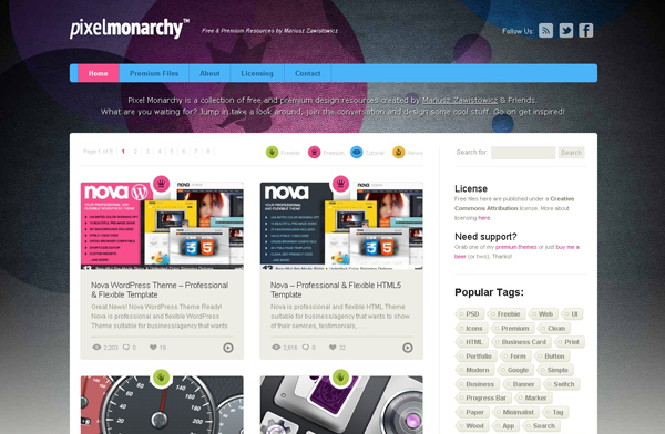 Websites free high quality PSD resources 21 25 Websites with Free High Quality PSD Resources