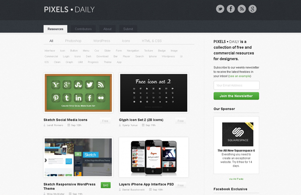 Websites free high quality PSD resources 22 25 Websites with Free High Quality PSD Resources