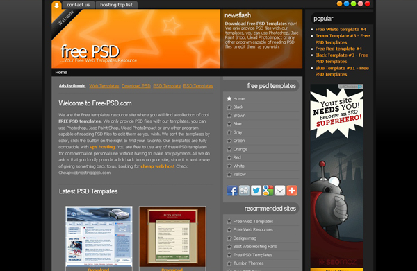 Websites free high quality PSD resources 3 25 Websites with Free High Quality PSD Resources