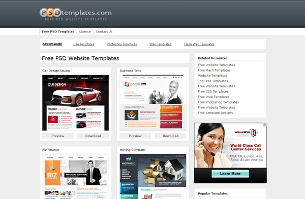 Websites free high quality PSD resources 4 25 Websites with Free High Quality PSD Resources