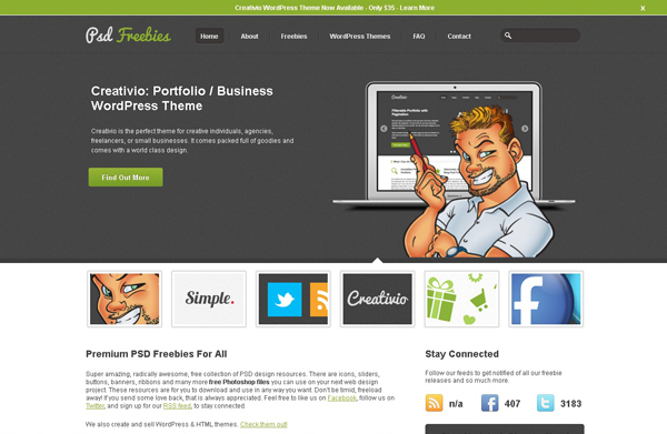 Websites free high quality PSD resources 9 25 Websites with Free High Quality PSD Resources