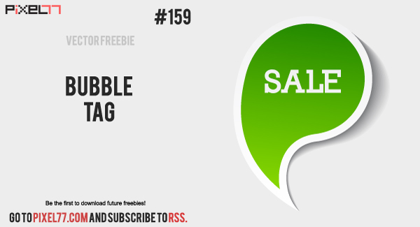 pixel77 free vector bubble tag 600 Free Vector of the Day #159: Bubble Tag