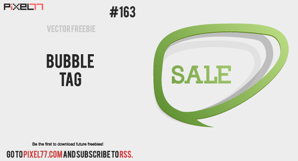 pixel77 free vector bubble tag 6001 Free Vector of the Day #163: Bubble Tag