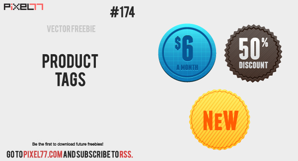 pixel77 free vector product tags 1001 600 Free Vector of the Day #174: Product Tags