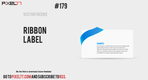 pixel77 free vector ribbon labels1008 600 Free Vector of the Day #179: Ribbon Label