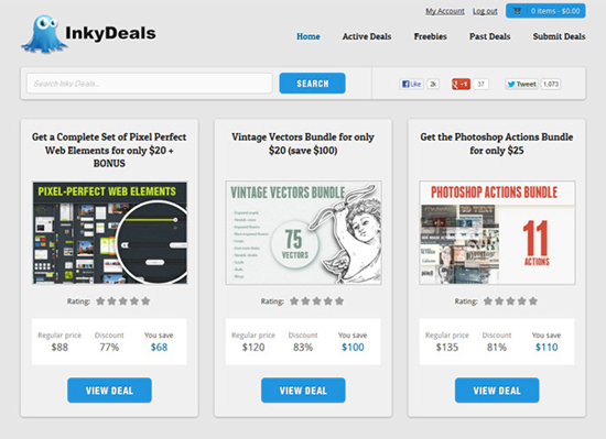 3 Inkydeals redesign homepage copy Inky Deals   The Launch of the New Website