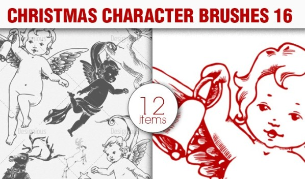 christmas characters brush pack 16 preview small A Massive New Collection of Christmas Vectors, Ps Brushes & More from Designious.com