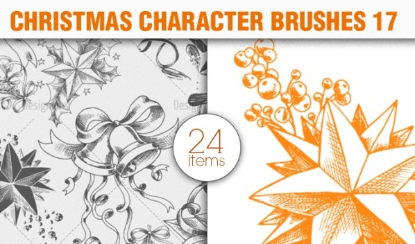 christmas elements brush pack 17 preview small A Massive New Collection of Christmas Vectors, Ps Brushes & More from Designious.com
