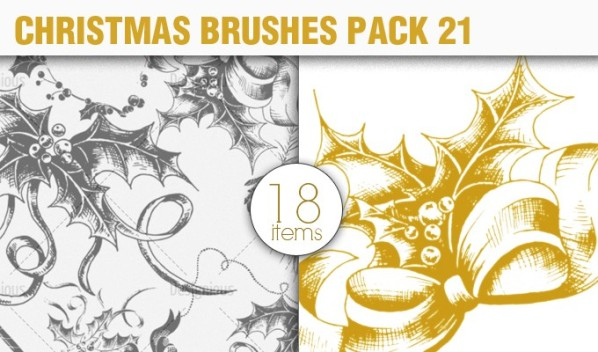 christmas elements brush pack 21 preview small A Massive New Collection of Christmas Vectors, Ps Brushes & More from Designious.com