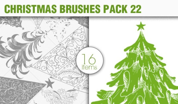 christmas elements brush pack 22 preview small A Massive New Collection of Christmas Vectors, Ps Brushes & More from Designious.com
