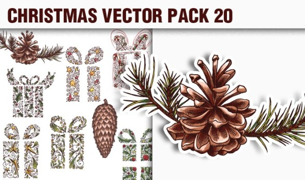 designious vector christmas 20 small A Massive New Collection of Christmas Vectors, Ps Brushes & More from Designious.com