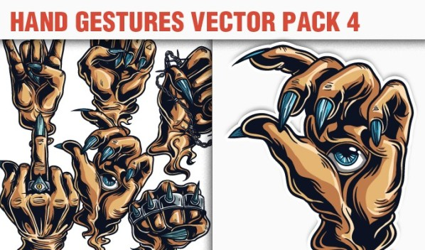 designious vector hand gestures 4 small A Massive New Collection of Christmas Vectors, Ps Brushes & More from Designious.com