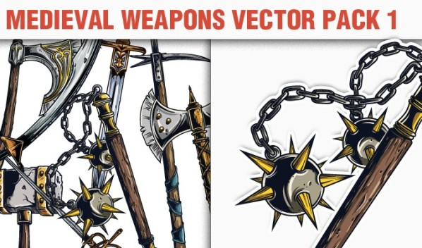 designious vector medieval weapons 1 small A Massive New Collection of Christmas Vectors, Ps Brushes & More from Designious.com