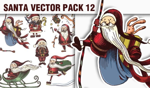 designious vector santa 12 small A Massive New Collection of Christmas Vectors, Ps Brushes & More from Designious.com