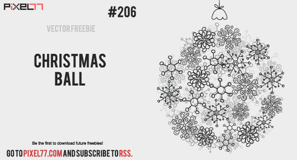 pixel77 free vector christmas ball 1114 600 Free Vector of the Day #206: Christmas Ball