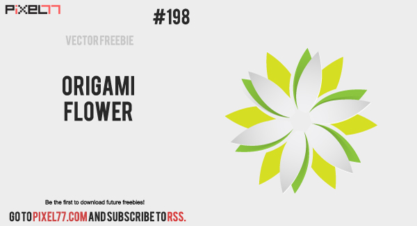 pixel77 free vector origami flower 1102 600 Free Vector of the Day #198: Origami Flower