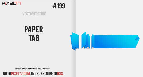 pixel77 free vector paper tag 1105 600 Free Vector of the Day #199: Paper Tag