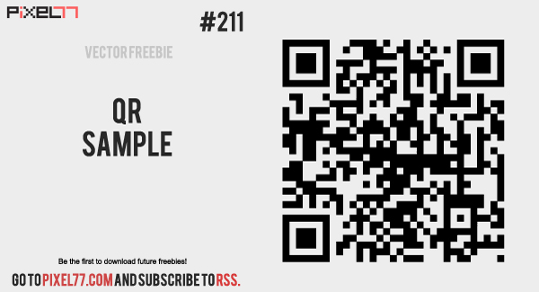 pixel77 free vector qr sample 1121 600 Free Vector of the Day #211: QR Sample