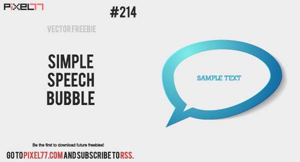 pixel77 free vector simple speech bubble 1126 600 Free Vector of the Day #214: Simple Chat Bubble