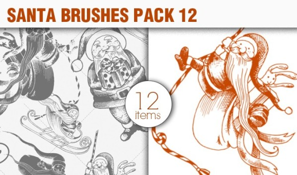 santa vector brush 12 preview small A Massive New Collection of Christmas Vectors, Ps Brushes & More from Designious.com