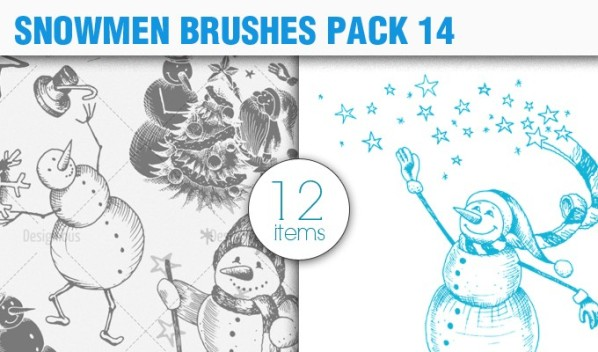 snowmen vector brush 14 preview small A Massive New Collection of Christmas Vectors, Ps Brushes & More from Designious.com