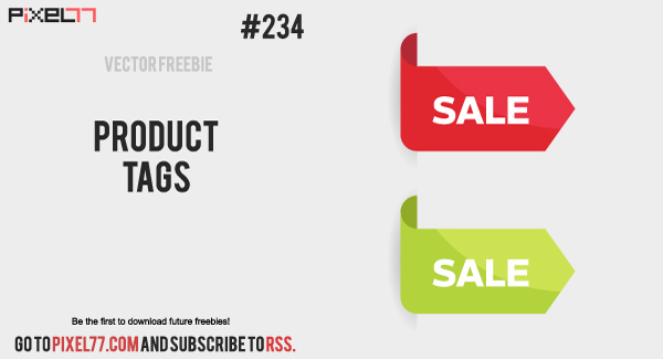 pixel77 free vector product tags 1224 600 Free Vector of the Day #234: Product Tags