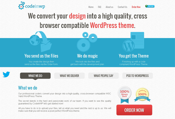 Convert your PSD WordPress theme 1 Convert Your PSD into a WordPress Theme with Codeinwp.com