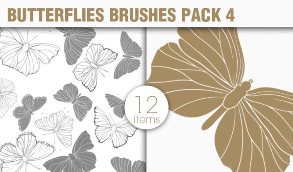 designious brushes butterflies 4 small New Vectors Packs, Brushes & T shirt Designs from Designious.com!