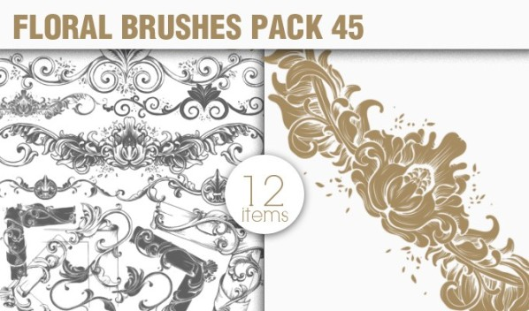 designious brushes floral frames 45 small New Vectors Packs, Brushes & T shirt Designs from Designious.com!