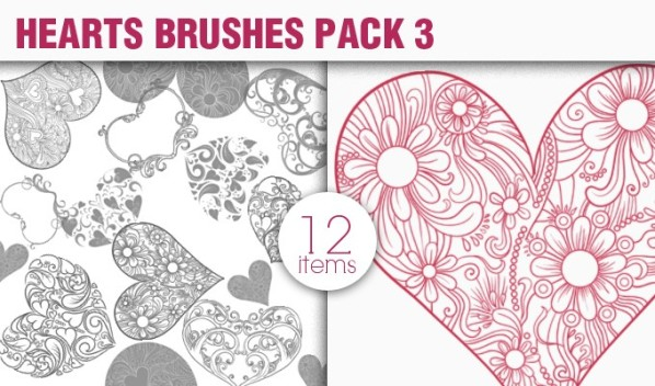 designious brushes hearts 3 small New Vectors Packs, Brushes & T shirt Designs from Designious.com!
