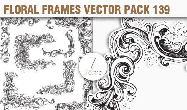 designious vector floral frames 139 small New Vectors Packs, Brushes & T shirt Designs from Designious.com!