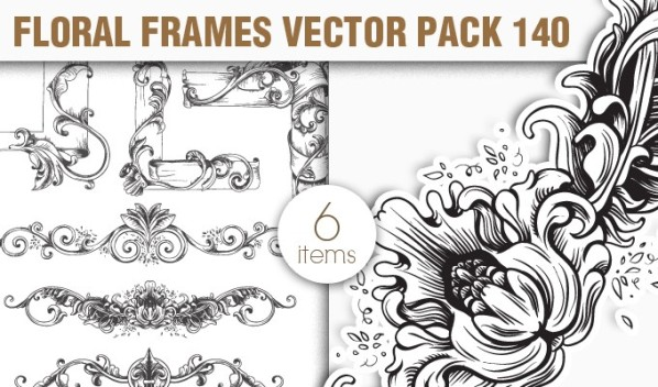 designious vector floral frames 140 small New Vectors Packs, Brushes & T shirt Designs from Designious.com!