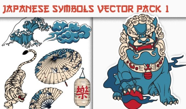 designious vector japanese symbols 1 small New on Designious.com: Japanese themed vector packs, Japanese bundle and a gorgeous freebie