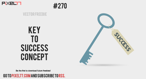 pixel77 free vector keytosuccess concept 0212 600 Free Vector of the Day #270: Key To Success Concept